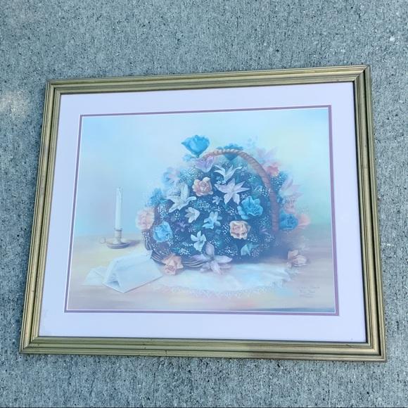 Vintage Other - Vivian Flasch flower basket love letters signed
